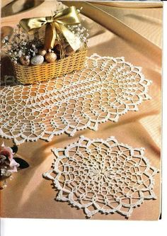 Crochet round and oval doilies -- Free pattern…….