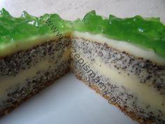 Ciasto makowe z masą galaretkową