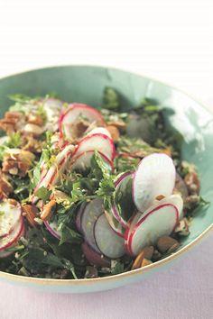 'n Heerlike slaai wat blitsig aanmekaar geslaan word. Jenny Morris, Salads, Meet, Salad, Chopped Salads