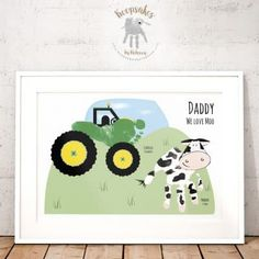 Keepsakes by Rebecca creates a whole range of personalised gifts and keepsakes, including footprints and handprint art, venue illustration and more! Baby Crafts, Crafts For Kids, Handprint Art, Baby Footprints, Cow Print, Footprint Crafts, Fathers Day Crafts, Fathers Gifts, Family Print