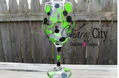 Personalized Wine Glasses Lime & Black Great for bridal, birthday, party by ahindle78 on Etsy https://www.etsy.com/listing/104109629/personalized-wine-glasses-lime-black