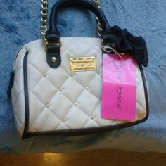Purse Small Betsy Johnson bag Crossbody with leather strap and gold detailing Betsey Johnson Bags Crossbody Bags