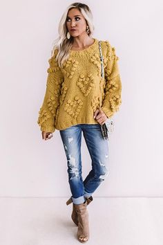 Mustard Sweater Outfit, Mustard Shirt, Sweater Outfits, Fall Outfits, Fashion Outfits, Mustard Yellow Outfit, Leopard Sweater, Denim Fashion, Modest Fashion