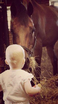 Portret paard en kind