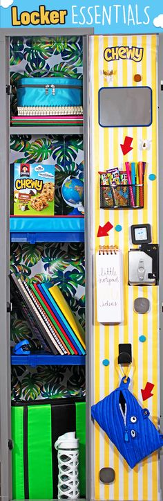 A little personalization goes a long way! Help your kids make their lockers the talk of the hallway with the help of Quaker® Chewy® Bars! 1. Decorate with wrapping paper, construction paper, and a little creativity, 2. Add cute quotes or pictures, 3. Add a snack holder for Quaker® Chewy® Bars.