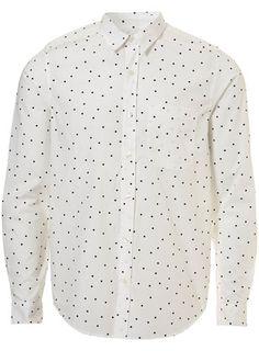 White Dot Print Shirt