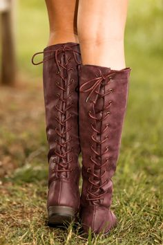 Out West Boots-Plum