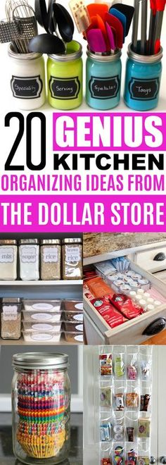 Kitchen Organizing Ideas Dollar Store, Cheap Organization Ideas For The Home