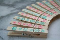 Decorative holiday clothespins set of 24  by CraftyClementines, $12.00