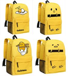 This super cute canvas backpack comes in four different styles to choose from that feature everyone's favorite lazy egg, Gudetama! Rilakkuma, Cute Canvas Backpack, Lazy Egg, Kawaii Bags, Cute Egg, Cute School Supplies, Vintage Canvas, Herschel Heritage Backpack, School Bags