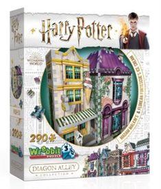 WREBBIT 3D puzzle Harry Potter: Madam Malkinová: Oděvy pro každou příležitost a Zmrzlinářství Florea   Puzzle-puzzle.cz