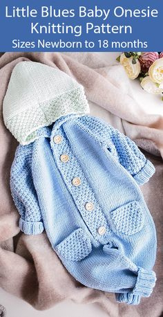 baby-knits # Baby Knits Onesie Knitting Pattern for Baby Jumpsuit Little Blues Baby onesie Baby-Strickanleitung baby BabyKnits Blues Jumpsuit Knits Knitting Kostenlose Strickanleitung für Baby-Overall Onesie Pattern Baby Knitting Patterns, Baby Clothes Patterns, Baby Patterns, Free Knitting, Crochet Baby Clothes Boy, Kids Knitting, Knitting Ideas, Knitted Romper, Knitted Hats