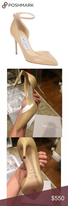 JIMMY CHOO ✨NWT✨ Brand New JIMMY CHOO Nude Lucy Pumps. They are still in the box with original packaging. Never worn. The heel is glossy 3 1/2 inches. Size 40. Gorgeous classic style. Jimmy Choo Shoes Heels
