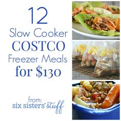 12 Costco Freezer Meals for $130 from Sixsistersstuff.com