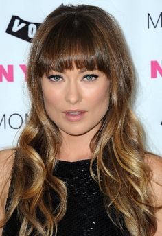 Olivia Wilde -- do I just want my bangs back? Maybe with a little ombre?