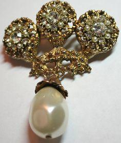 Vintage designer signed Benedikt NY pin brooch large by lbjool, $26.00