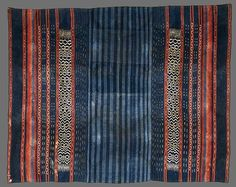 Woman's skirt and hanging [sora langi'] late 19th-early 20th century Rongkong district Sulawesi  cotton warp ikat