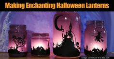 Ever wonder how to create some amazing Halloween decorations out of those old mason jars you've got laying around? Here are some great ideas. It's a simple task that will turn those boring mason jars into something wonderfully festive for this Halloween. After placing a flickering candle inside...