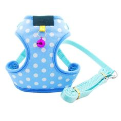 BUYITNOW Soft Mesh Pet Harness Leash Set Polka Dot Dog Cat Vest with Bell Walking Leads for Small Medium Large Breed ** For more information, visit image link. (This is an affiliate link and I receive a commission for the sales) #MyDog