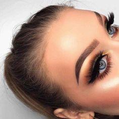 #CoconutOilEyebrows Eye Makeup Glitter, Prom Makeup, Wedding Makeup, Hair Makeup, Bridal Makeup, Eyelashes Makeup, Blue Eye Makeup, Eyebrow Makeup, Hair Wedding