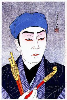 hanga gallery . . . torii gallery: Nakamura Kanzaburo as the Tobacconist Genshichi by Natori Shunsen