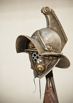 Gladiator Helmet ReplicaAncient Rome by BirdArtBulgaria on Etsy