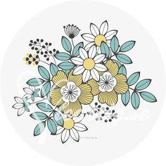 圖畫書為成人  工藝回形針圖形工藝pappersyssel   黃花
