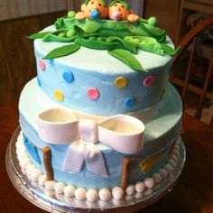 Twin baby shower cake