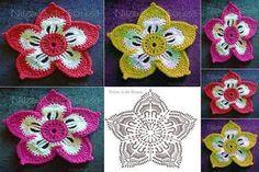 # Learn to crochet flowers - Design Patterns Online Crochet Granny, Crochet Motif, Crochet Flowers, Fabric Flowers, Free Crochet, Crochet Patterns, Crochet Appliques, Blog Design, Learn To Crochet