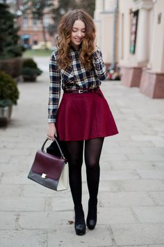navy OASAP shirt - black PERSUNMALL boots - black H&M tights