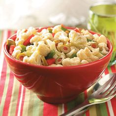 Christmas Vegetable Salad with Cauliflower Florets from Taste of Home