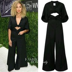 Splurge: The gorgeous @LeonaLewis took to the #SaksFifthAvenue + #VanityFair: 2016 International Best Dressed List Celebration in a $2,495 @Rosie_Assoulin Black 'Knotty by Nature' Jumpsuit and voluminous blonde curls. Thoughts? Written by: @iam_faithc. #leonalewis #fashionbombdaily #celebritystyle #realstyle #instafashion #instastyle #fashion #style #rosieassoulin #realstyle