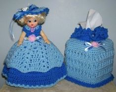 Crocheted Toilet Paper Cover, learn how to make this? Tissue Box Covers, Tissue Boxes, Tissue Holders, Crochet Toilet Roll Cover, Puerto Rico, Paper Cover, Vintage Crochet, Crochet Dolls, Paper Dolls