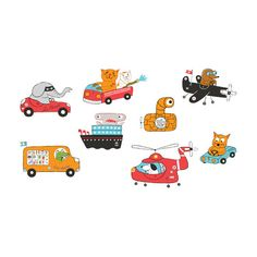 Animal Drivers Set - fun site for temporary tattoos!