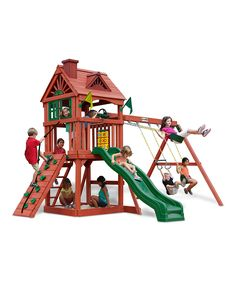 This Gorilla Playsets Nantucket Swing Set by Gorilla Playsets is perfect! #zulilyfinds
