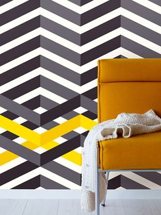 Eijffinger - Stripes Only wallpaper - Interiorator Wall Art Wallpaper, Geometric Wallpaper, Wallpaper Ideas, Contemporary Wallpaper, Funky Design, Interior Decorating, Interior Design, Decorating Ideas, Inspirational Wallpapers