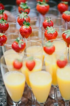 mimosas + strawberries // photo by Nadia Meli // view more: http://ruffledblog.com/provencal-lavender-field-wedding