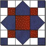 Quatrefoils Quilt Block - Patriotic