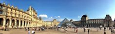 The Louvre museum in Paris. Panoramic snapshot taken with a smartphone!