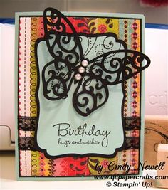 CTMH Cricut Art Philosophy Butterfly Birthday Card (QC Papercrafts Boutique)