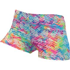 Beach Tracks spandex shorts are a fun and colorful option while on the court or training