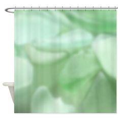 Unique Seafoam Green Sea Glass Shower Curtain on CafePress.com