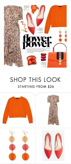 """Flower Power"" by federica-m ❤ liked on Polyvore featuring Marc by Marc Jacobs, MANGO and Gucci"