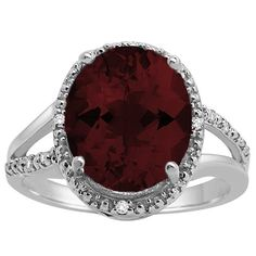 Oval Shaped Garnet and Diamond Ring in 10K Gold AoneJewelry http://www.amazon.com/dp/B00FLI1PAU/ref=cm_sw_r_pi_dp_cfxfxb1ES6MJ1