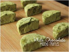 White Chocolate Matcha Truffles