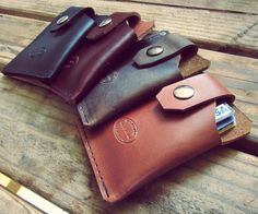 Mens Leather Card Wallet. Great front pocket wallet for everyday carry.