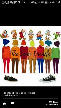 The seven dwarfs costume!