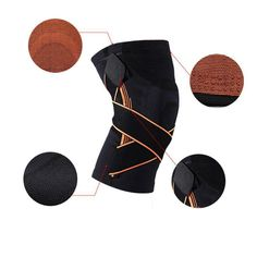 e76e2ed2b9 3D Weaving Knee Brace, Breathable Professional Protective Knee Pad Provides Knee  Support #Connect2day