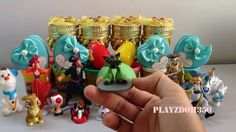 PLAY DOH SURPRISE EGGS with Surprise Toys,Mario Bros,Disney,Pirates of t...