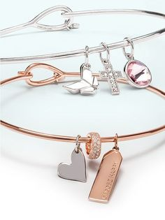 Origami Owl CORE Bangle Bracelets and Mementos (charms) are perfect for mixing metals!